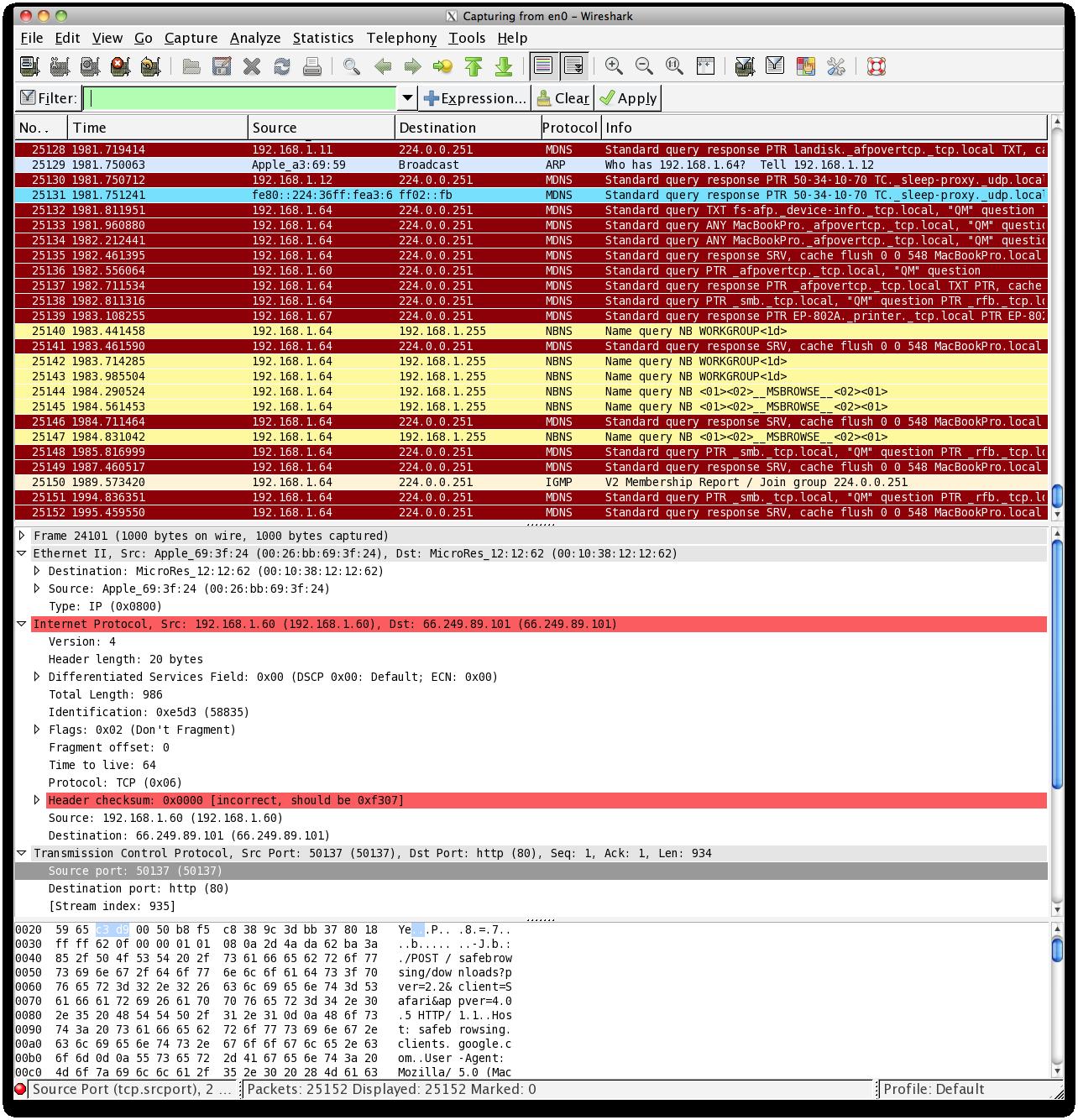 Mac OSX 対応のパケットアナライ...